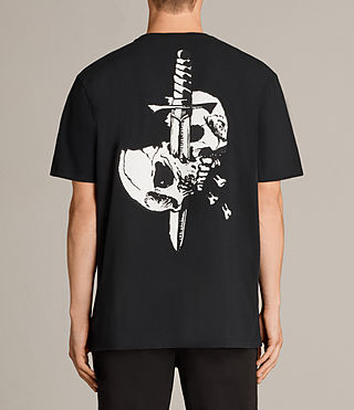 Men's Splitter Crew T-Shirt (Black) - Image 2
