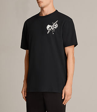 Uomo T-shirt Splitter (Black) - product_image_alt_text_3