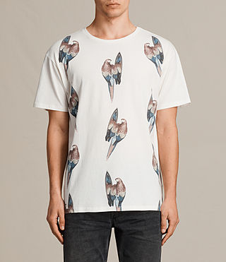 Mens Surfin Bird Crew T-Shirt (Chalk White) - product_image_alt_text_1