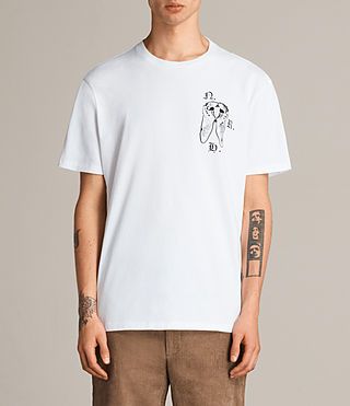 Hombres Camiseta Catrabbit (Optic White) -