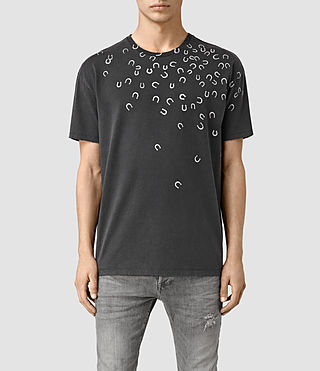 Mens Lucky Crew T-Shirt (Vintage Black)