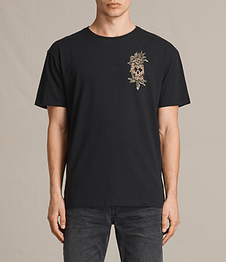 Hombre Camiseta de manga corta Fineapple Switch (Black) - product_image_alt_text_1