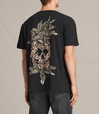 Men's Fineapple Switch T-Shirt (Black) - Image 4