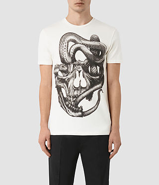 Mens Taipan Crew T-Shirt (Chalk White)