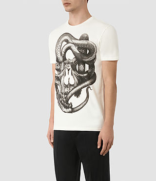 Mens Taipan Crew T-Shirt (Chalk White) - product_image_alt_text_2