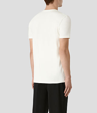 Mens Taipan Crew T-Shirt (Chalk White) - product_image_alt_text_3