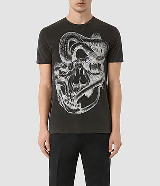 Mens Taipan Crew T-Shirt (Vintage Black) - product_image_alt_text_1