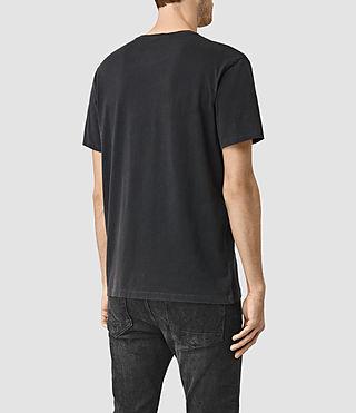 Hommes Canna Crew T-Shirt (Vintage Black) - product_image_alt_text_3