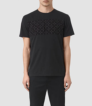 Hombres Harben Cross Crew T-Shirt (Jet Black)