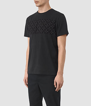 Mens Harben Cross Crew T-Shirt (Jet Black) - product_image_alt_text_2