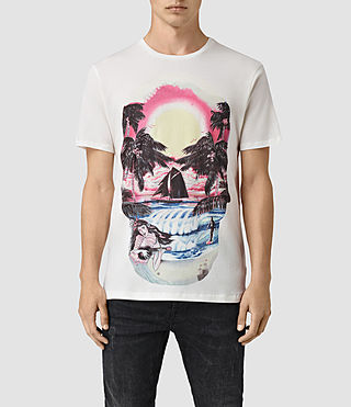Mens Waikiki Crew T-Shirt (Chalk White) - product_image_alt_text_1