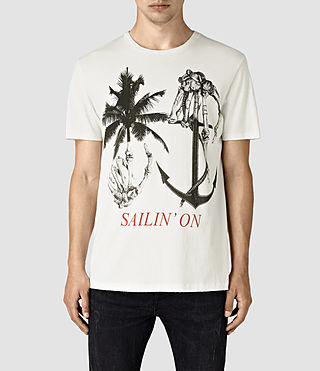 Mens Sailin Crew T-Shirt (Chalk White) - product_image_alt_text_1