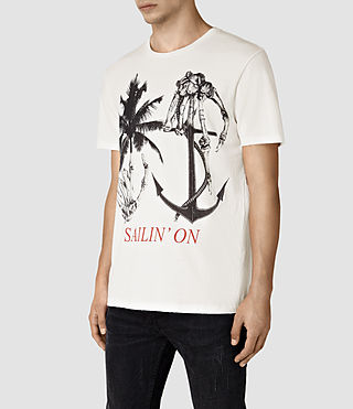 Mens Sailin Crew T-Shirt (Chalk White) - product_image_alt_text_3