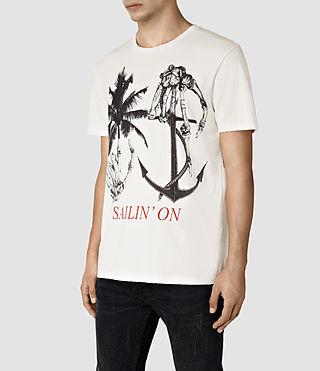 Mens Sailin Crew T-Shirt (Chalk White) - product_image_alt_text_3