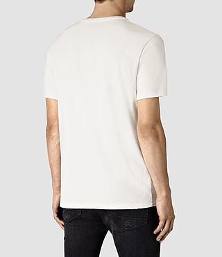 Hombre Sailin Crew T-Shirt (Chalk White) - product_image_alt_text_4