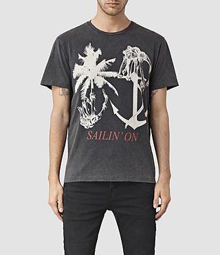 Herren Sailin Crew T-Shirt (Vintage Black)