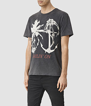 Men's Sailin Crew T-Shirt (Vintage Black) - product_image_alt_text_2