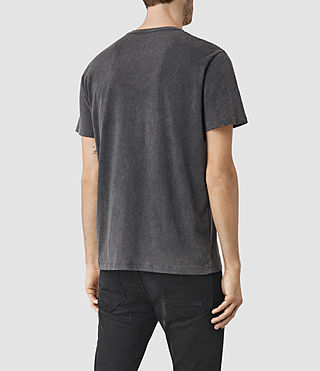 Hombres Sailin Crew T-Shirt (Vintage Black) - product_image_alt_text_3