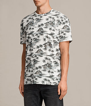 Men's Marooned Crew T-Shirt (ECRU WHITE) - product_image_alt_text_3