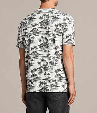 Men's Marooned Crew T-Shirt (ECRU WHITE) - product_image_alt_text_4