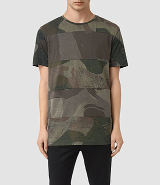 Mens Smock Udal Crew T-Shirt (Khaki Green) - product_image_alt_text_1