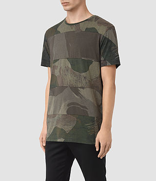 Mens Smock Udal Crew T-Shirt (Khaki Green) - product_image_alt_text_2