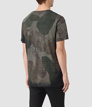 Mens Smock Udal Crew T-Shirt (Khaki Green) - product_image_alt_text_3