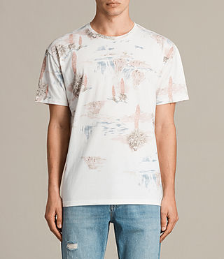 Mens Dreamscape Crew T-Shirt (Chalk White) - product_image_alt_text_1