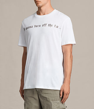 Men's Wanna Crew T-Shirt (Optic White) - product_image_alt_text_5