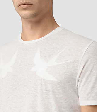 Hommes Martins Stitch Crew T-Shirt (Chalk White) - product_image_alt_text_2