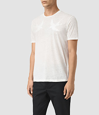 Men's Martins Stitch Crew T-Shirt (Chalk White) - product_image_alt_text_3