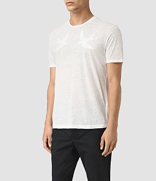 Herren Martins Stitch Crew T-Shirt (Chalk White) - product_image_alt_text_3