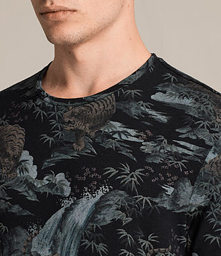 Men's Tiagaa Crew T-Shirt (Black) - product_image_alt_text_2