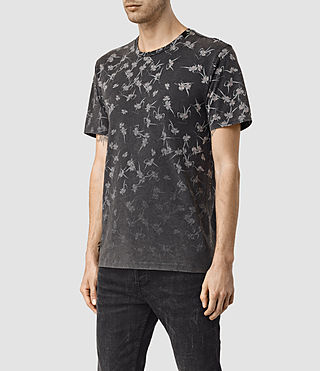 Hombres Aaru Crew T-Shirt (Vintage Black) - product_image_alt_text_3