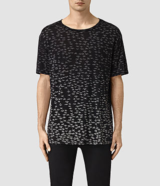 Mens Salix Crew T-Shirt (Vintage Black) - product_image_alt_text_1