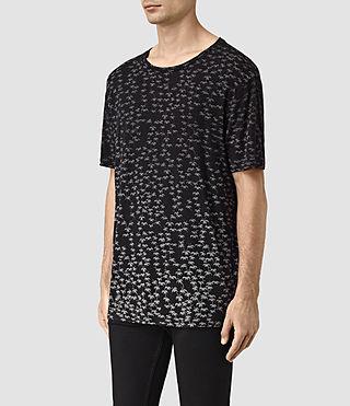 Mens Salix Crew T-Shirt (Vintage Black) - product_image_alt_text_2