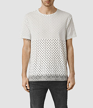 Mens Leaf Spade Crew T-Shirt (Chalk White) - product_image_alt_text_1