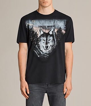 Men's Night Wolvs Crew T-Shirt (Black) -