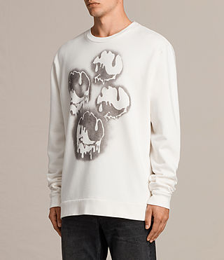 Mens Good Times Crew Sweatshirt (Chalk White) - product_image_alt_text_3