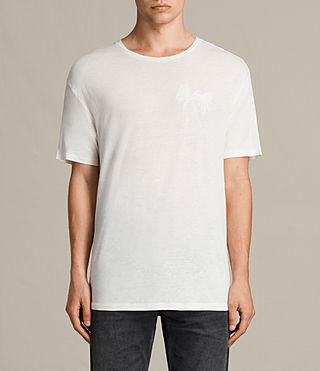 Hommes T-shirt Palmx (Chalk White) -