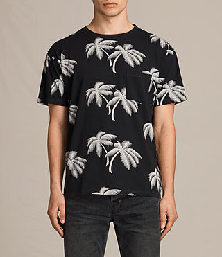 Mens Offshore Crew T-Shirt (Vintage Black) - product_image_alt_text_1