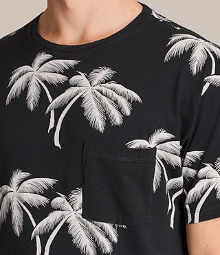 Mens Offshore Crew T-Shirt (Vintage Black) - product_image_alt_text_2