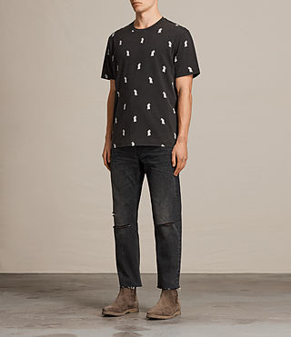 Men's Pine Crew T-shirt (Vintage Black) - Image 3
