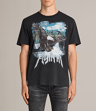 Mens Flyin High Crew T-Shirt (Black) - product_image_alt_text_1