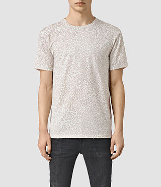 Hombres Spot Camo Crew T-Shirt (ASH PINK)