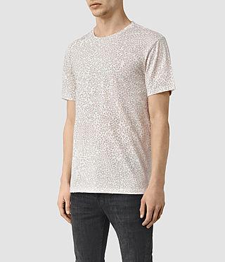 Herren Spot Camo Crew T-Shirt (ASH PINK) - product_image_alt_text_2