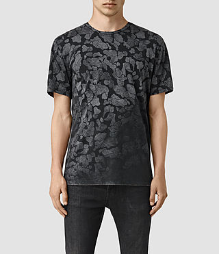 Hombres Cloud Camo Crew T-Shirt (Vintage Black) -