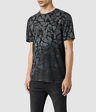 Hombres Cloud Camo Crew T-Shirt (Vintage Black) - product_image_alt_text_2