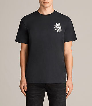 Mens Alsace Switch Crew T-Shirt (Black) - Image 1