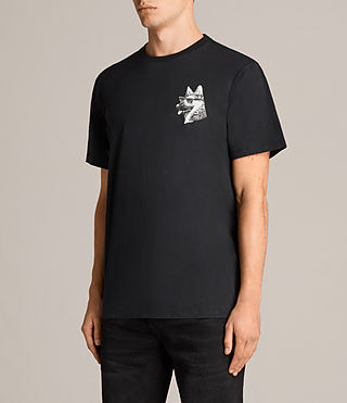 Mens Alsace Switch Crew T-Shirt (Black) - Image 3